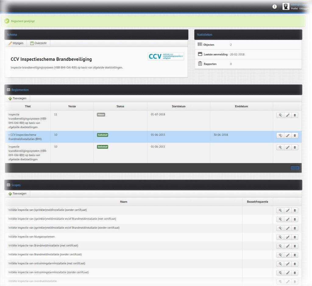 CCV inspectieschema AudiMAX
